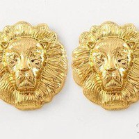 Pynk Krush — Lion Stud Earrings