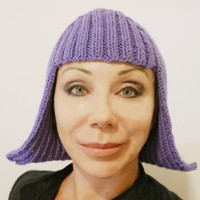 $39 Knitted Wig Beanie Hat by grrlandog