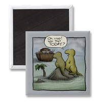 Shoebox Dinosaurs Magnet from Zazzle.com