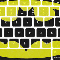 Large Batman Logo Macbook Keyboard Stickers