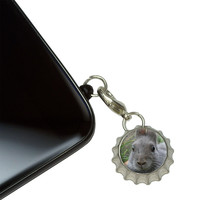 Bunny Rabbit Gray - Easter Mobile Bottlecap Phone Charm