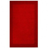 Acura Rugs Loom Red / Dark Red Contemporary Rug - Red Border - Contemporary Rugs - Area Rugs by Style - Area Rugs