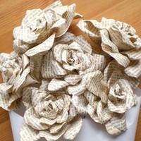 Storybook Roses Half Dozen Paper Flowers made by smilemercantile