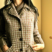 Vintage 1960s Pendleton Houndstooth Fall Wool by GinnyandHarriot