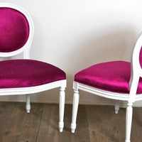 www.roomservicestore.com - Punch Pink Louis Dining Chair