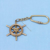 Small Ship Wheel Key Chain  - Keychains -  Wooden Ship Models, Nautical Decor & Gifts - GoNautical