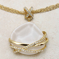 Golden Katherine Pendant | Emma Stine Jewelry Necklaces