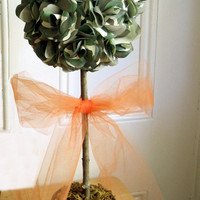 Camouflage Topiary with Hot Pink or Hunter Orange Tulle Bow