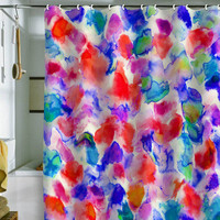 DENY Designs Home Accessories | Amy Sia Amaris Blue Shower Curtain