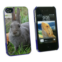 Bunny Rabbit Gray - Easter iPhone 4-4S Case