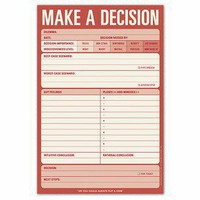 Make a Decision Pad ? Decision-Making Help Notepad by Knock Knock