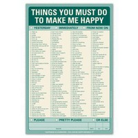 Things You Must Do to Make Me Happy Pad by Knock Knock