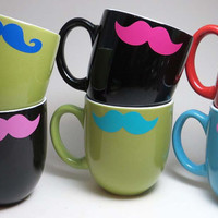 Mustache Mug, Coffee Mug