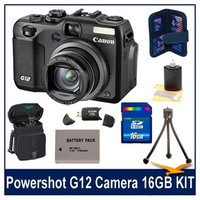Canon G12 10MP Digital Camera w/ 5x Optical Image Stabilized Zoom & 2.8 inch Vari-Angle LCD W HD...