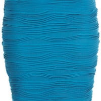 Teal Textured Mini Skirt - View All - Shorts &amp; Skirts - Clothing - Miss Selfridge