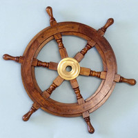 "Ship Wheel 12""  - Ship Wheels -  Wooden Ship Models, Nautical Decor & Gifts - GoNautical"