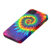 Colorful Tie-Dye iPhone 4 Casemate from Zazzle.com