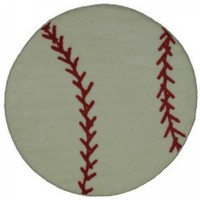 LA Rugs Fun Rugs Shape Collection- Baseball $54.99