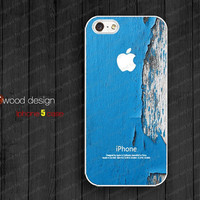 NEW iphone 5 cases case for iphone 5  iphone 5 cover blue wood texture image unique design printing