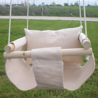 Baby Infant Swing to Toddler Swing - Baby Outdoor Toy Available in Eggshell