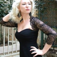 RADAR black bolero renaissance romantic style by maryandangelika