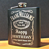 Personalized Birthday Flask