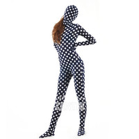 Halloween Full Body Fancy Dress Lycra Spandex Zentai Suits White Dot Cosplay Costumes [L20120826] - 24.58 : Zentai, Sexy Lingerie, Zentai Suit, Chemise