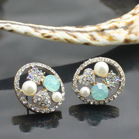 Korean style Chic Rhinestone earrings | martofchina.com