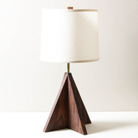 Arrow Lamp- Table Lamp, Wooden Lighting, Modern Walnut Lamp, Geometric Table Lighting