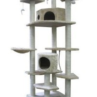 "Amazon.com: 80"" Cat Tree Condo Furniture Scratch Post Pet House: Pet Supplies"