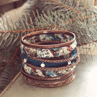 Eclectic Stacks Bracelet, Women's Sweet Country Inspired Jewelry