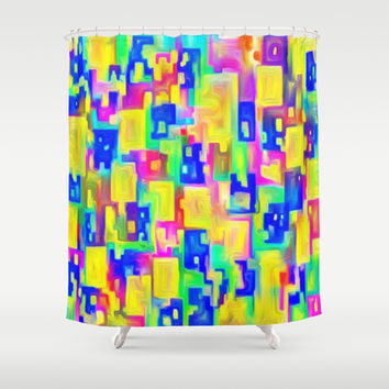 DREAM COLORS Shower Curtain by Robleedesigns