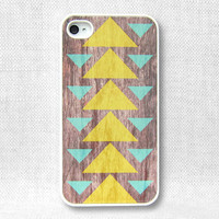 iPhone 4 Case, iPhone Case, iPhone 4S Case - Geometric Wood  - 097