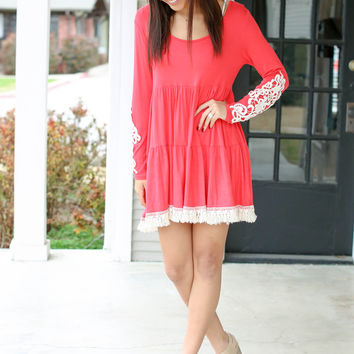 Tiers of Joy Dress - Coral