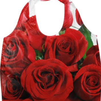 Red Roses Eco Bag created by ErikaKaisersot | Print All Over Me