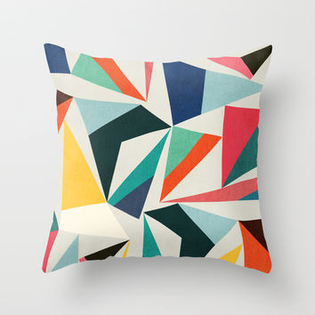 Collection of pointy summit Throw Pillow by Budi Satria Kwan