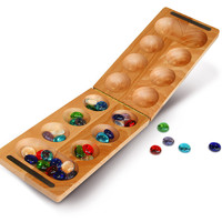 Folding Mancala, Wood, Indoor Games