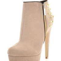 Brazen Nude Stud Back Boot - Boots  - Shoes