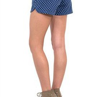 West Coast Wardrobe Dotted Denim Dolphin Shorts