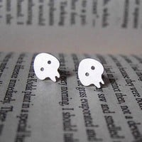 Sterling Silver Skull Ear Studs Fro.. on Luulla