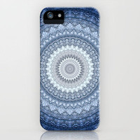 Kaleidoscope Blue iPhone Case by M✿nika  Strigel	 | Society6