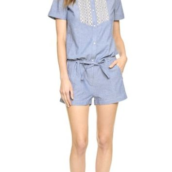 Maison Scotch Special Chambray Romper