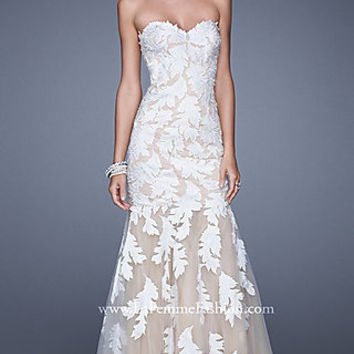 Long Strapless Sweetheart La Femme Mermaid Gown
