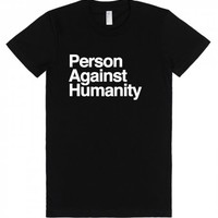 Person Against-Unisex Black T-Shirt
