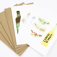 Beer and Food Pairing Card Set of 4