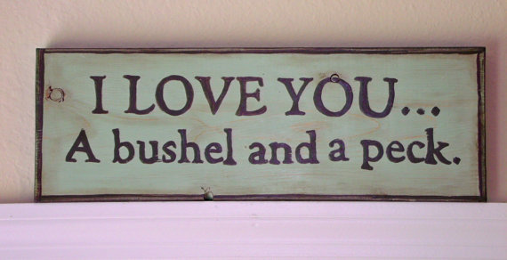 I Love You A Bushel And A Peck Hand From Stellabythesea On