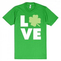 Love Clovers (white text)-Unisex Grass T-Shirt