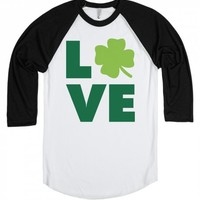 Love Clovers-Unisex White/Black T-Shirt