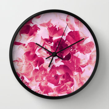 sweet peas variation Wall Clock by Clemm