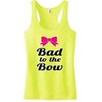 bad to the bow workout tank top | Glamfoxx